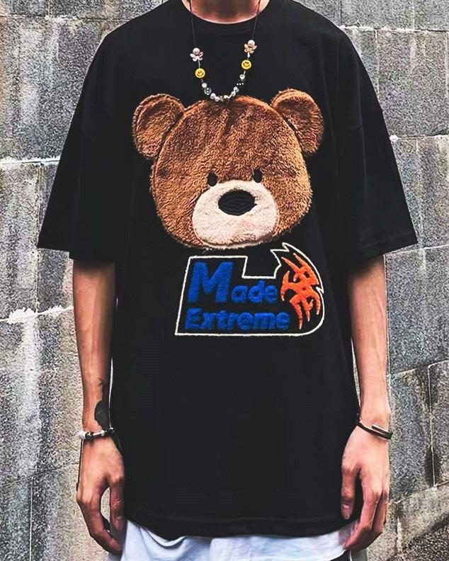 オーバーサイズクマフェイスTシャツの画像4